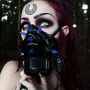 MB-Müller 87324-004-000 - Máscara de gas con pinchos UV, unisex, color negro