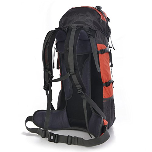 Große 75 Liter Reise Wandern Camping Rucksack Rucksack Urlaub Gepäcktasche,Orange Orange