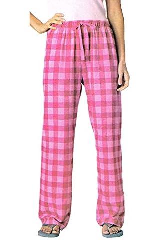 DamenFlanell Webhose - Pyjamahose - Schlafanzughose M