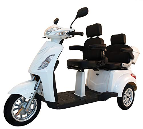 Elektromobil VITA CARE 2000, Seniorenmobil, Senioren, Dreirad, E-Roller E-Scooter mit Straßenzulassung, Elektro-Roller Weiß
