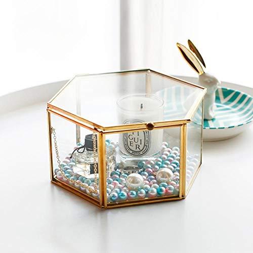 Duhe Glasring-Box für Glas-Blumen, nordisch, sechseckig, transparent, Ewige Blume, Glas-Abdeckung, Innovative Dekoration