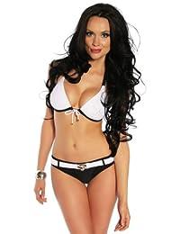jowiha Sexy Push Up Bikini gepolstert Cups B mit Gürtel Größen S M L oder XL