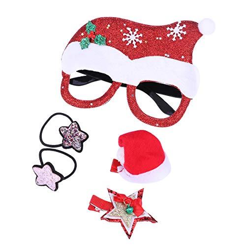 BESTOYARD 5 stücke Weihnachten Brillenfassungen Weihnachten Hut Brillengestell Weihnachten...
