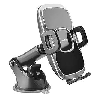 APPS2Car Armaturenbrett-Windschutzscheiben-Halterung, dreiseitiger Griff, mit einhändiger Bedienung und Teleskoparm, einfach ziehen und drücken, für iPhone XS max 8 7 Samsung S9 A9 HTC U12 Huawei P20