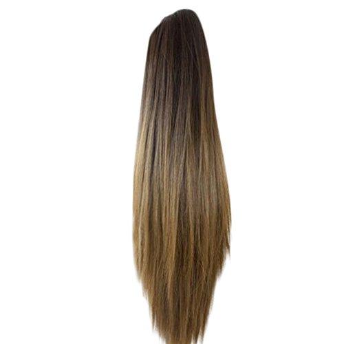 Trada Perücke haarteile, Frauen Mode Klaue Clip Lange Gerade Pferdeschwanz Haarverlängerungen Perücke Haarteil Haarteile Echthaar Hair Haarteil Haarverdichtung (A)