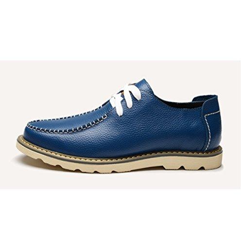 Hommes Occasionnels Affaires En Cuir Chaussures À Tête Ronde D