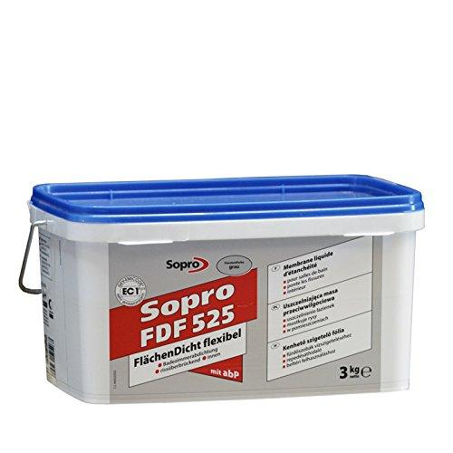 Sopro Flächendicht flexibel FDF, grau, Eimer 3 kg -