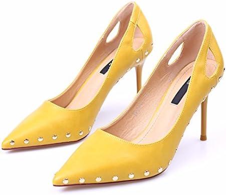 GTVERNH Mujer Zapatos/Zapatos De Tacon Fino Sola Salvaje Superficial Zapatos De Punta Vaciado Zapatos De Mujer.Treinta...