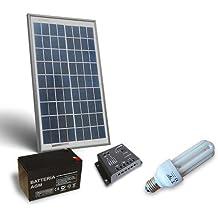 Kit de iluminacion solar Fluo 10W 12V para Interior, Fotovoltaico, Stand-Alone