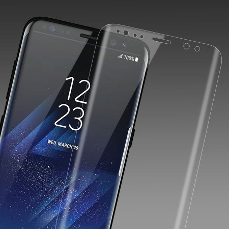 Giant Armour 3D Full Coverage Edge to Edge Curved Tempered Glass HD Screen Protector for Samsung Galaxy S8 Plus