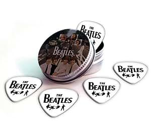 Beatles 5 X Logo Guitar Médiators Picks in Tin Plectrums