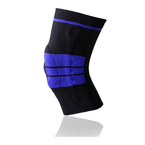 Silikon Anti-Kollisions Compression Kniebandage - WinCret Gestrickte Schützend Elastisch atmungsaktive Knieorthese - Bequeme und Fit für...