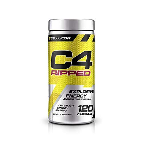 Cellucor C4 Ripped Fatburner Fettverbrennung Fettbrenner Diät Fitness Bodybuilding 120 Kapseln)