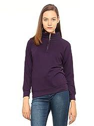 Vvoguish Womens Regular Fit Cotton Top (VVSWTSHRT980NVY_Navy_40)