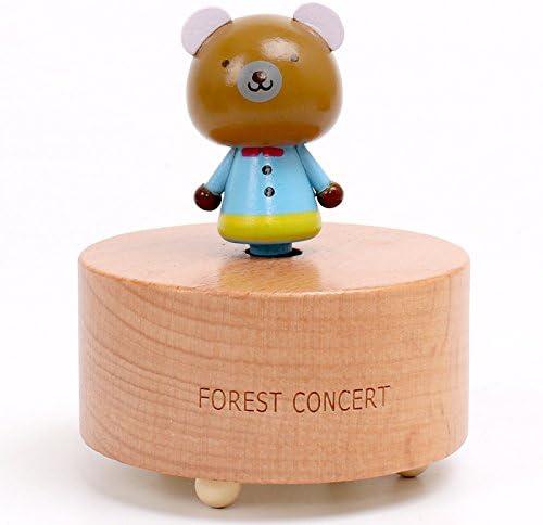 Jouet de développeHommes t précoce pour enfants Boite à musique en bois pour animaux de dessin animé créative pour enfants (petit grizzly) | Prix D'aubaine