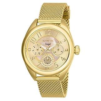 Invicta 27455 Angel Reloj para Mujer acero inoxidable Cuarzo Esfera oro