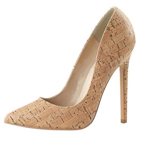 Heels-Perfect, Scarpe col tacco donna Beige (Beige (Beige))