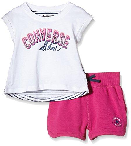 Converse Short - Conjunto Bebé-Niños, Multicolor (Plastic Pink), 6 mes