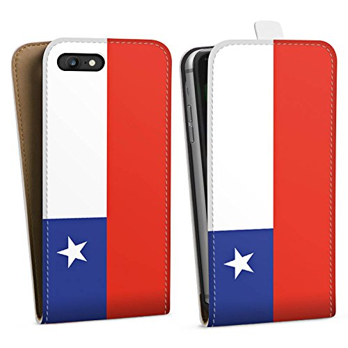 Apple iPhone X Silikon Hülle Case Schutzhülle Chile Flagge Fußball Downflip Tasche weiß