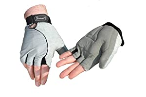NRS Healthcare Wheelchair Gloves with Gel Palms, Large 8.9 cm (3.5 inches) Width - Pair
