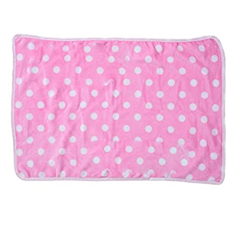 Pet Soft Blanket for Dog&Cat&Puppy&Kitten Warm Polar Fleece Mat Bed with Spot Design For Car&Sofa&Pet Bed&Crate&Kennel by Awhao Pink L