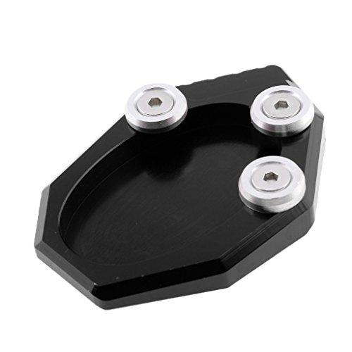 Preisvergleich Produktbild Homyl Motorrad CNC Seitenständer Verbreiterung Ständer Seite Ständer Verlängerung Teller Pad für Kawasaki Z1000SX 11-14 - Schwarz
