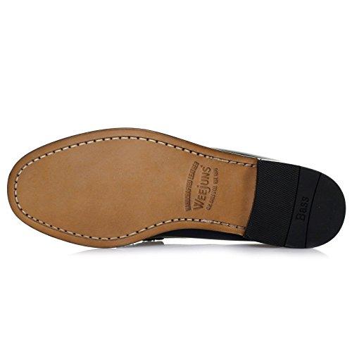 G.H. Bass & Co. Mens Larson Moc Leather Shoes Bleu