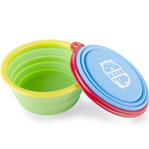 Travel Dog Bowls By Fossa Collapsible Portable Pet Food & Water Bowls I Size 2 X 1, 5 Cups By Fossa