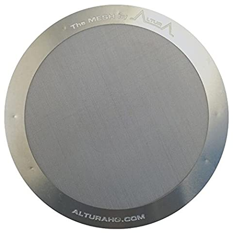 The MESH: Stainless Steel Coffee Filter for AeroPress Coffee Makers by ALTURA. Washable & Reusable. Lifetime 100%