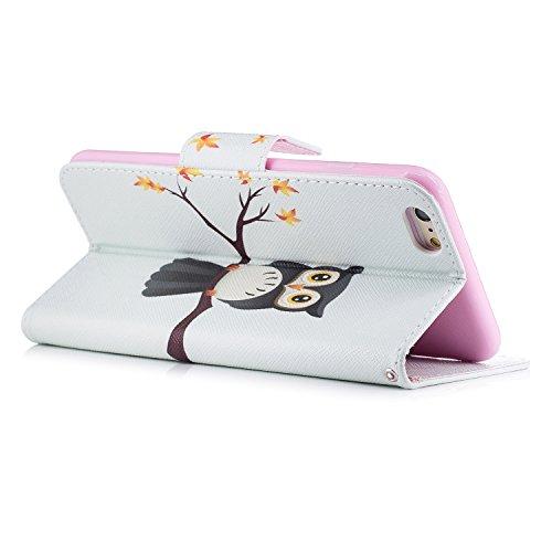 iPhone 6S Plus Custodia Flip,iPhone 6S Plus Custodia in Pelle,Slynmax Corgi Stampato Copertura Folio Cover PU Wallet Case Per iPhone 6s Plus / 6 Plus 5.5 Protezione Caso Ultra Sottile Colorato Protett Cover #8