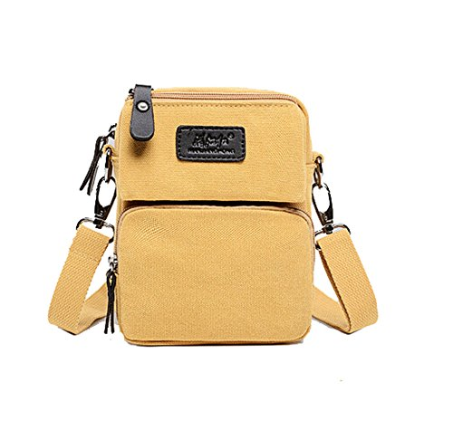 fanselatm-mens-leisure-solid-canvas-crossbody-pack-single-shoulder-bags-yellow