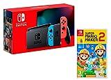 Nintendo Switch V2 32Gb Neon-Rot/Neon-Blau [neues model] + Super Mario Maker 2