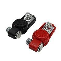 Mainstayae Car Battery Terminal Clamp Clip Connector Adjustable Positive Negative