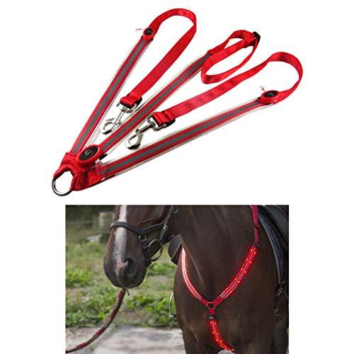 Sarplle Imbracatura LED Imbracatura per Il Torace Cintura di Sicurezza USB Ricaricabile con 3 modalità e Luce per Ambienti Scuri allaperto