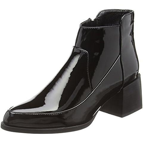 Boohoo - Grace Block Heel Patent, Stivali Donna