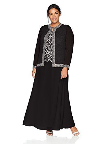 37db96c111cb6 Buy J Kara Women s Plus Size Beaded Jacket Dress on Amazon ...