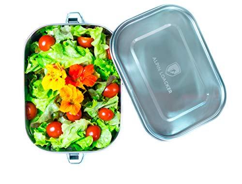 Alpin Loacker Edelstahl Lunch-Box auslaufsicher und Dicht. Die Dichte Brotdose, Brotbox, Vesper-Box, Vesper-dose 1400ml | Lunch Box für Kinder und Erwachsene