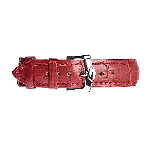 (Alligator Red Crocodile Apple Watch Armband für Apple Watch serries 1, 2, 3 Rot 42mm)