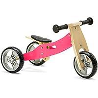 Nicko Mini 2 in 1 Pink Wooden Balance Running Bike Trike 18 months - 3 years old