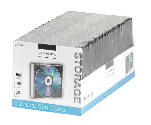 Vivanco CD/DVD Slim Case (50er Pack) schwarz Slim Case