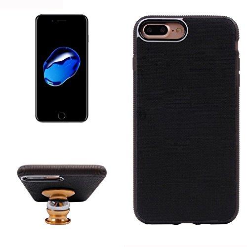 iPhone Case Cover Pour iPhone 7 Plus texture Denim ventouse magnétique style TPU + PC Coller peau protectrice cas arrière ( Color : Grey ) Black