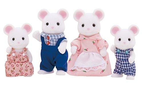 Sylvanian Families  - 4121 -  Famille Souris Blanche  -  Mini Poupée 5054131041215