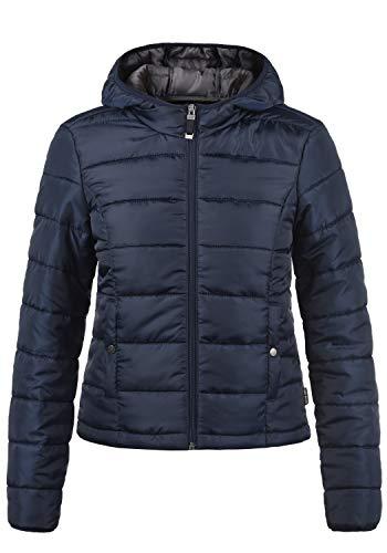 VERO MODA Pamela Damen Übergangsjacke Steppjacke leichte Jacke gefüttert mit Kapuze, Größe:L, Farbe:Night Sky Mode Jacke