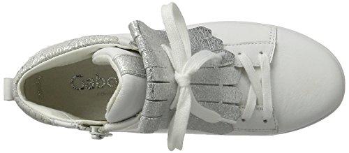 Gabor Shoes Comfort, Scarpe da Ginnastica Basse Donna Bianco (weiss/silber 50)