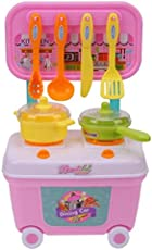 Vivir Small Dining Car Cooking Kitchen Set Toys for 3 Year Old Boys and girls (Multicolour, Small)
