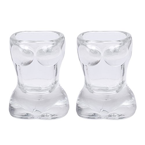Kloud City® verschiedenen Creative Design ernennt Shot Glas Tassen 2PCS Clear ( Beauty )