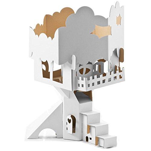 CALAFANT D 2503X - Baumhaus zum Basteln und Anmalen - Level 3, weiß