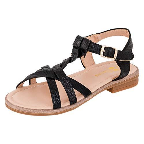 ndalen Sandaletten Kinder Schuhe in Glitzeroptik M545sw Schwarz 34 EU ()