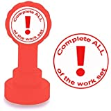 Complete all of the work set. Self-inking Marking Stamp for Teachers in Red Ink