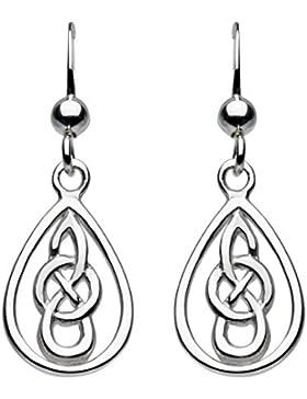 Heritage Damen-Ohrhänger Sterling-Silber 925, Keltischer Knoten Tropfenform Tropfenohrringe